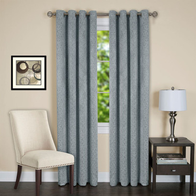 Jensen Blackout Grommet Top Curtain Panel - Ice Blue