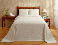 Natick Chenille Bedspread - Natural