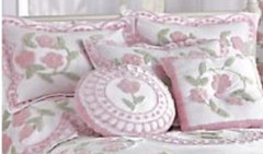 Bloomfield Square Throw Pillow - Pink