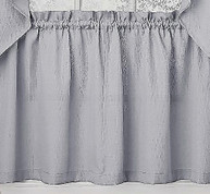 "Ribcord 36"" kitchen curtain tier - Gray"