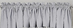 Ribcord kitchen curtain valance - Gray