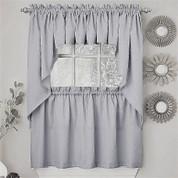 Ribcord Kitchen Curtain - Gray
