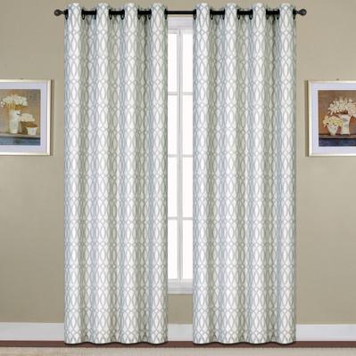 Oakland Grommet Top Curtain - Platinum