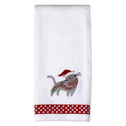 Christmas Kitten Hand Towel