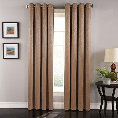 Aurora Grommet Top Curtain Panel - Cocoa