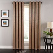 Aurora Grommet Top Curtain Panel - Cocoa
