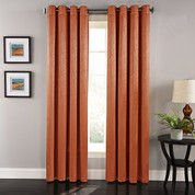 Aurora Grommet Top Curtain Panel - Spice