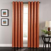 Aurora Grommet Top Curtain Panel - Spice