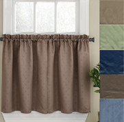 "Twilight 24"" kitchen curtain tier"