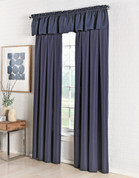 Ribcord Rod Pocket Curtains from Lorraine in Navy Blue on Linens4Less.com