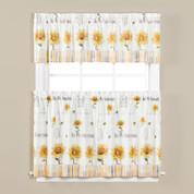 Sunflowers & Honey Bees Kitchen Curtain