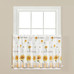 Sunflowers & Honey Bees Kitchen Curtain tier