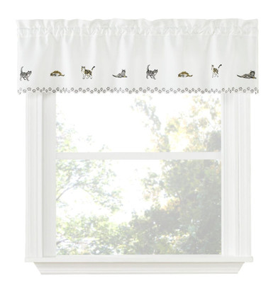 Cats kitchen curtain valance