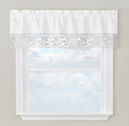 Maribel kitchen curtain valance - Silver