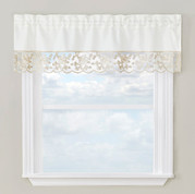 Maribel kitchen curtain valance - Gold