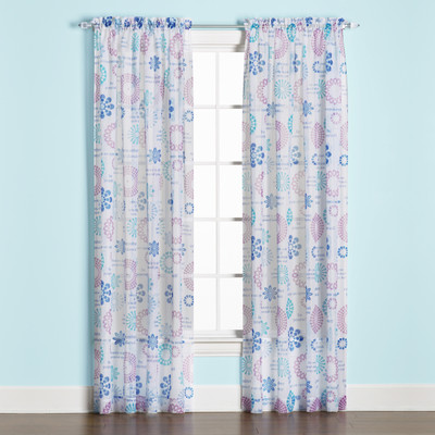 Dream Rod Pocket Curtain Panel in Blue from Saturday Knight (2 panels shown)