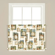 "Nature's Hope kitchen curtain 24"" tier from Saturday Knight"
