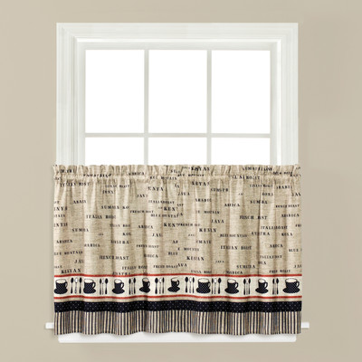 """Café Coffee kitchen curtain 36"""" tier from Saturday Knight"""