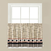 "Café Coffee kitchen curtain 36"" tier from Saturday Knight"