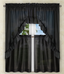 Stacey Solid Kitchen Curtain - Black