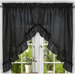 Stacey Solid Kitchen Curtain swag - Black