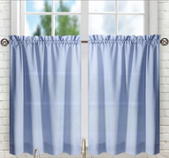 "Stacey 24"" kitchen curtain tier - Slate Blue"