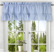 Stacey kitchen curtain valance - Slate Blue
