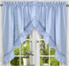 Stacey Solid Kitchen Curtain swag - Slate Blue