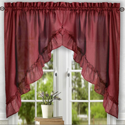 Stacey kitchen curtain swag - Merlot