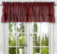 Stacey kitchen curtain valance - Merlot