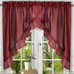 Stacey Solid Kitchen Curtain swag - Merlot