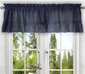 Stacey Solid Kitchen Curtain valance - Navy Blue