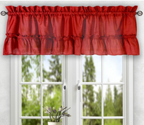 Stacey kitchen curtain valance - Red