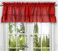 Stacey Solid Kitchen Curtain valance - Red