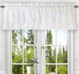 Stacey Solid Kitchen Curtain valance - White