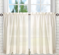 "Stacey 24"" kitchen curtain tier - Ice Cream"