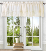 Stacey kitchen curtain valance - Ice Cream