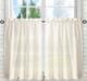 Stacey Solid Kitchen Curtain tier pair - Ice Cream