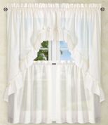 Stacey Solid Kitchen Curtain - Ice Cream