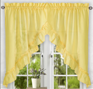 Stacey kitchen curtain swag - Yellow
