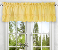 Stacey kitchen curtain valance - Yellow