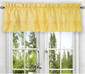 Stacey Solid Kitchen Curtain valance - Yellow