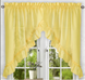 Stacey Solid Kitchen Curtain swag - Yellow