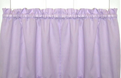 "Stacey 24"" kitchen curtain tier - Lilac"