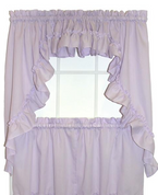 Stacey Solid Kitchen Curtain - Lilac