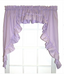 Stacey Solid Kitchen Curtain swag - Lilac