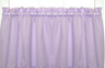 Stacey Solid Kitchen Curtain tier pair - Lilac