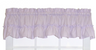Stacey Solid Kitchen Curtain valance - Lilac