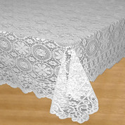 Hopewell Lace Tablecloth 58x104 - White