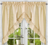 Stacey kitchen curtain swag - Almond